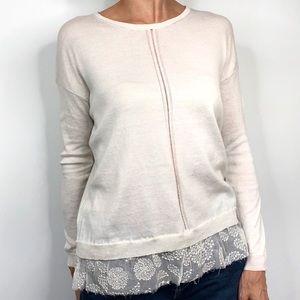 Ann Demeulemeester Cashmere Silk Lace Sweater